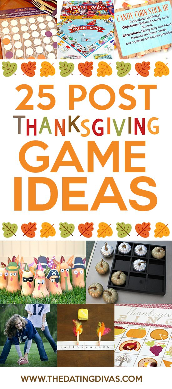 25 Post Thanksgiving Game Ideas for families of all sizes, plus adults and kids of any age!