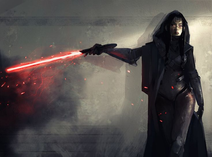 Concept artist Kevin Macio created this Star Wars fan art of a female Sith Lord