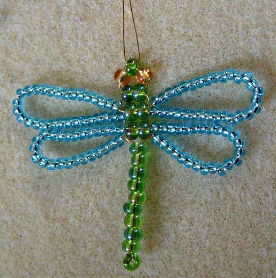 Faire une libellule avec des perles