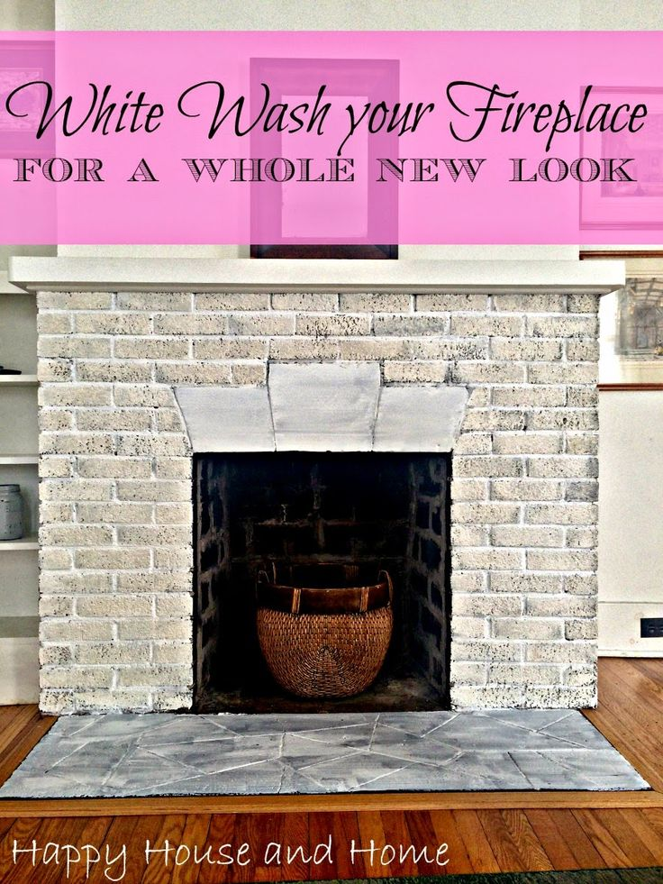 How to whitewash brick. Easy and quick update.  #fireplace #WhiteWash #homedecor  white wash brick, white wash fireplace, whitewash fireplace