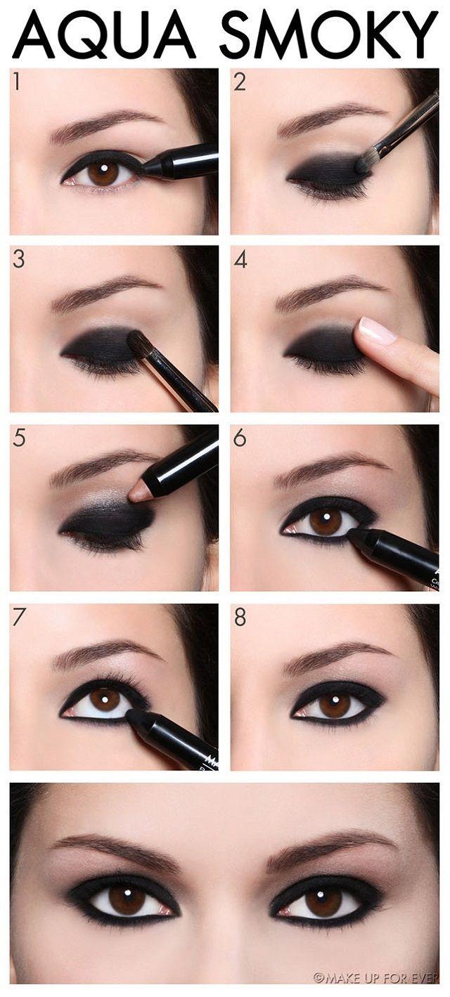 Aqua-Smoky-Eye-Shadow-Makeup-Tutorial