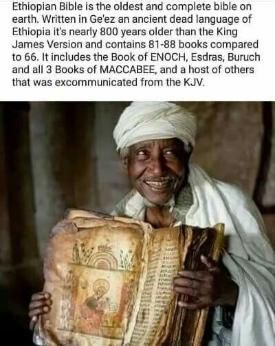 The oldest and complete bible on earth.. THE BOOKS OF ADAM&EVE AND ENOCH ARE AMAZING. YOU CAN FIND THESE BOOKS ON AMAZON. Forget your local christian bookstore.
