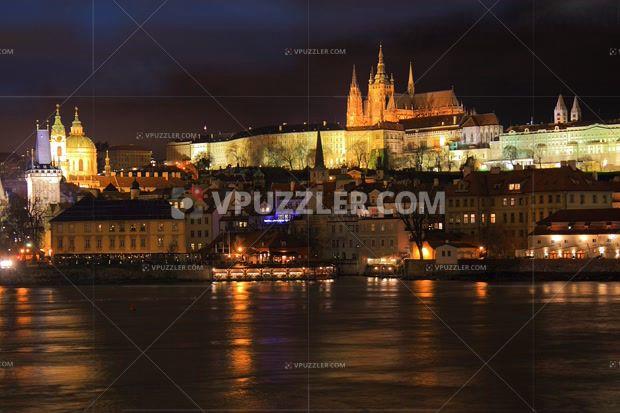 Prague by night #stockphoto #royaltyfree #prague #citybynight