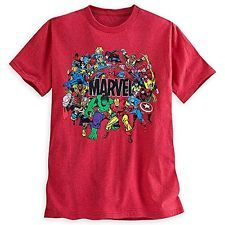 Disney Store Mens Marvel Universe Tee T-shirt Small Red S NWT
