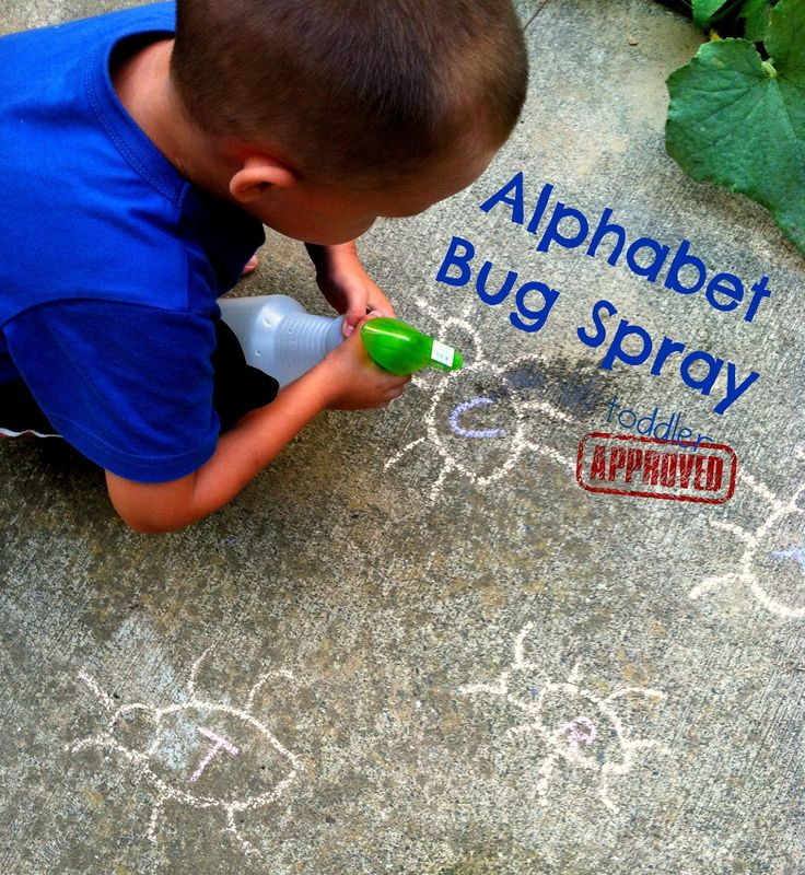 Toddler Approved!: Alphabet Bug Spray. A fun way to learn about the alphabet.