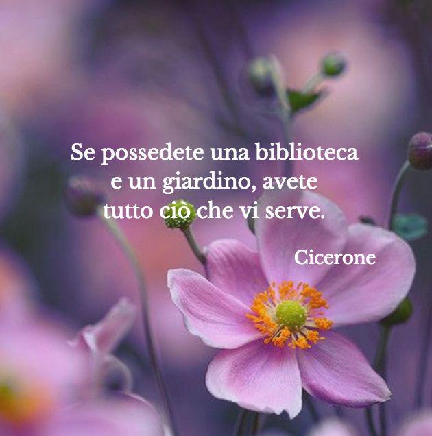 Quote by Cicerone #quotes #quote #aforismi #nature #natura #flowers #citazioni #naturequotes