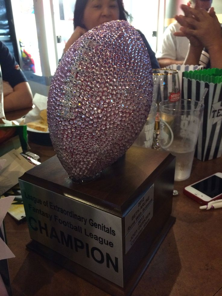 Female Fantasy Football League Trophy