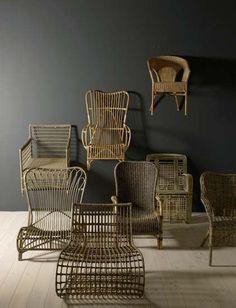 fauteuils en vannerie