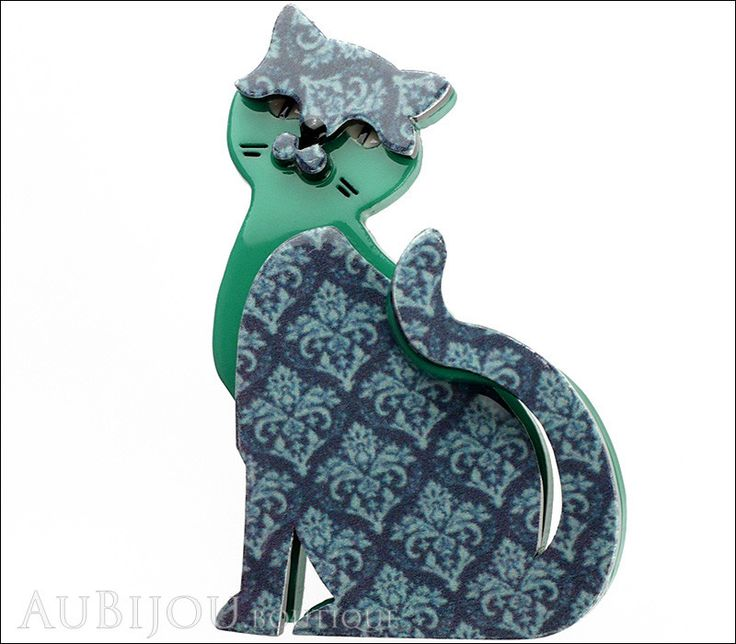 Classic - Purrfect Petunia: Try as we might we can't think of any way to describe Petunia that she is likely to of approve of herself. Description: Erstwilder layered plastic (resin) brooch, limited e