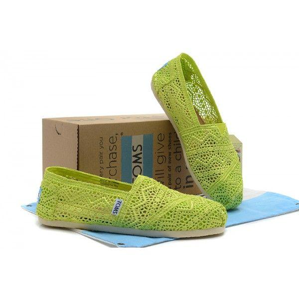 Fluorescent Green Crochet Womens Classics