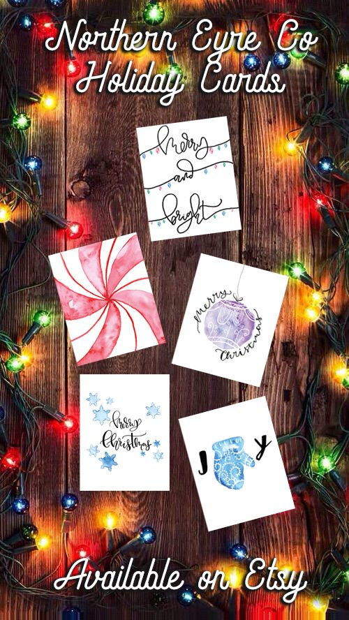 northern eyre co etsy shop printable christmas cards easily