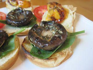 Vegetarian and Cooking!: Portobella Peach Sliders