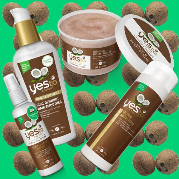 Yes To Coconuts, $3-$10 (shown here: Polishing Body Scrub; Eczema Relief Spray; Ultra Moisture Shampoo; Curl Defining Hair Smoother). An entire 12-piece line of coconut oil-infused products for hair and skin.
