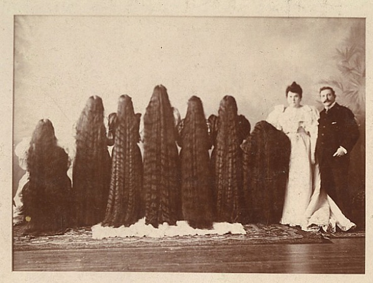 The Seven Sutherland Sisters of Lockport, ~ New York, 1880's