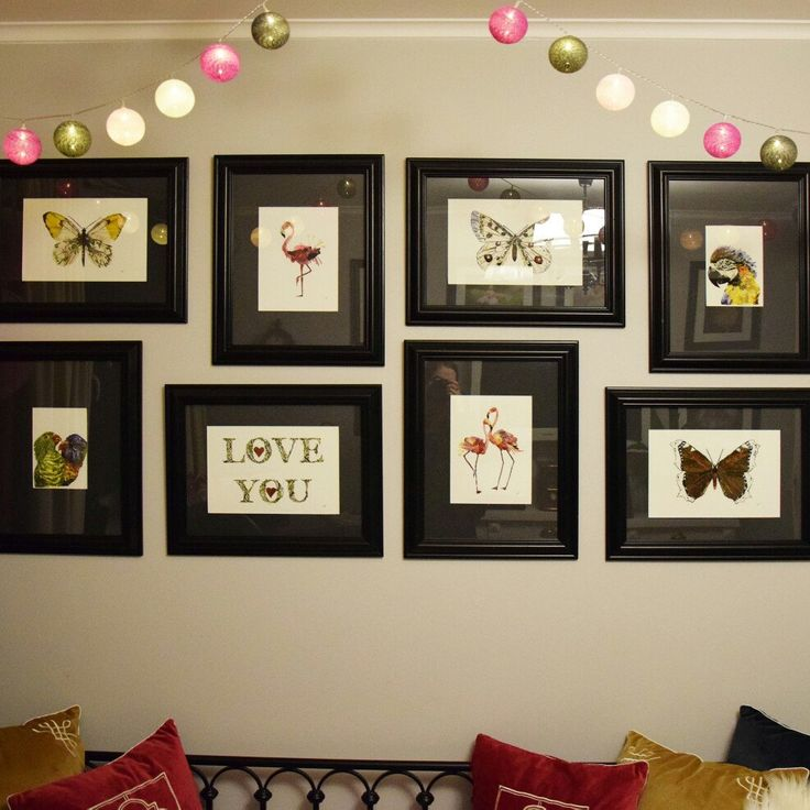Decorations of nursery with my prints