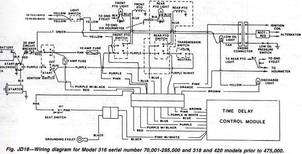 John Deere 420 Garden Tractor Wiring Diagram   Diagram ... on
