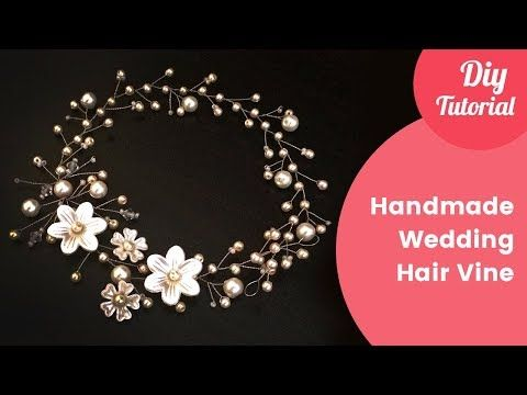How To DIY Hair Comb Headpiece Hair Vine with crystals and rhinestones - YouTube