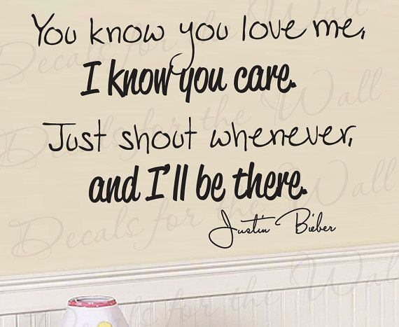 Justin Bieber Baby Girl Room Kid Lyrics Song by DecalsForTheWall
