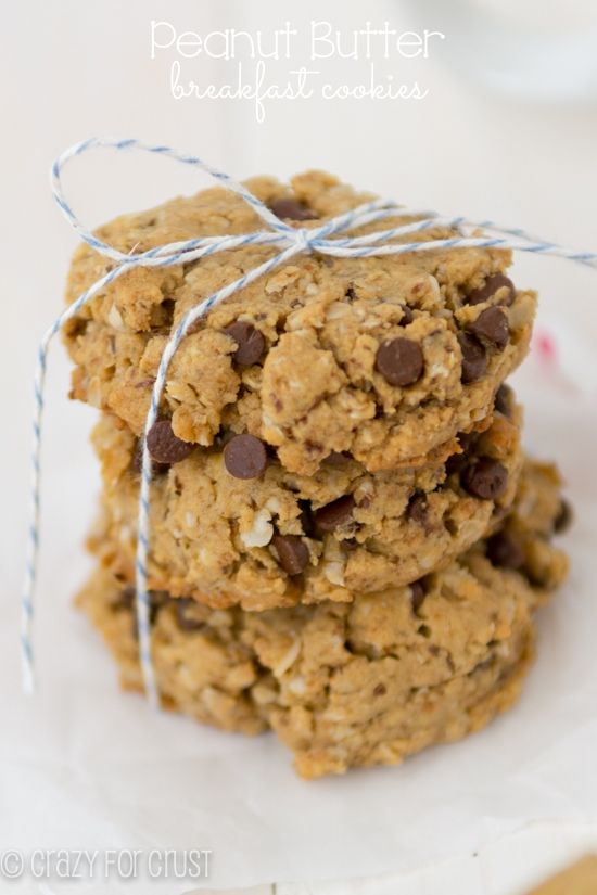 For breakfast or an after school snack, these cookies will fill you up and get you on your way!