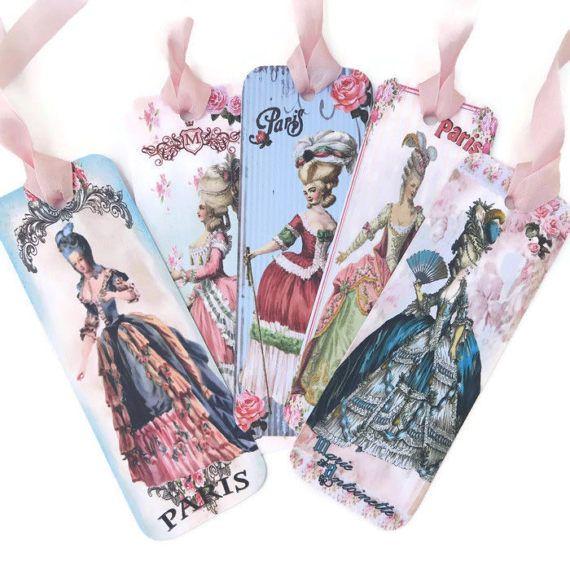 Bookmark Marie Antoinette Paris Paper by EnchantedQuilling on Etsy