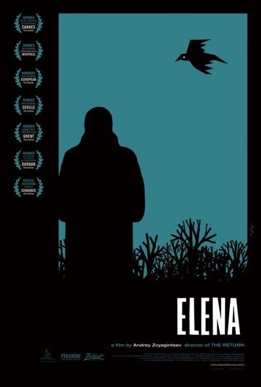 """Elena"" #02 __ Design: Sam Smith __ #inspiration #creativity #concept #art #art_direction #grid #layout #design #layout_design #graphic #graphic_layout #graphic_design #poster #poster_layout #poster_design #film #film_poster #movie #movie_poster #typography #illustration #impawards"