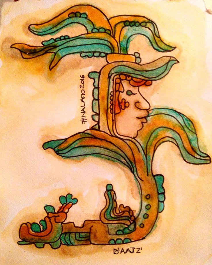 B'aatz' del Tzolkin Maya  Tinta y marcador sobre papel.  #Nalamo2016