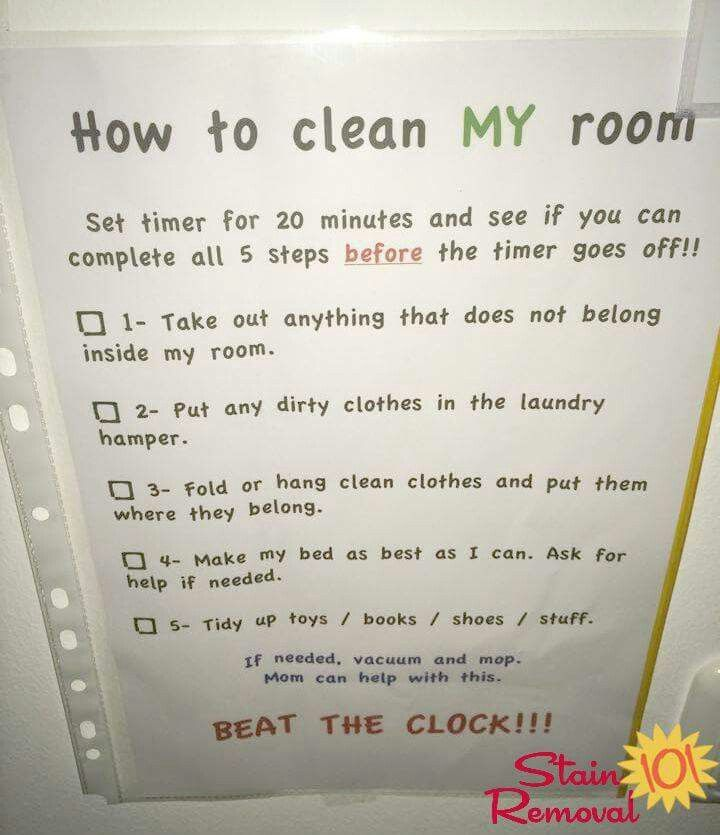 Bedroom Cleaning Checklist