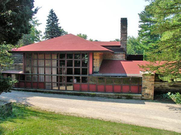 Органическая архитектура: Фрэнк Ллойд Райт (Frank Lloyd Wright): Hillside Home School II, Spring Green, Wisconsin (Реконструкция Хиллсайдской школы, Спринг-Грин, Висконсин), 1902
