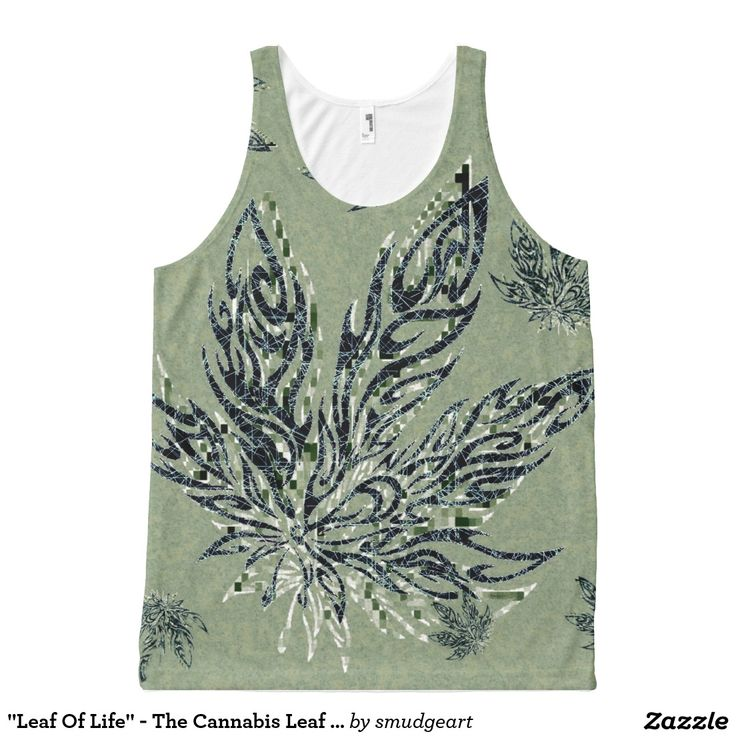 """Leaf Of Life"" - The Cannabis Leaf / Mosaic Art All-Over Print Tank Top"