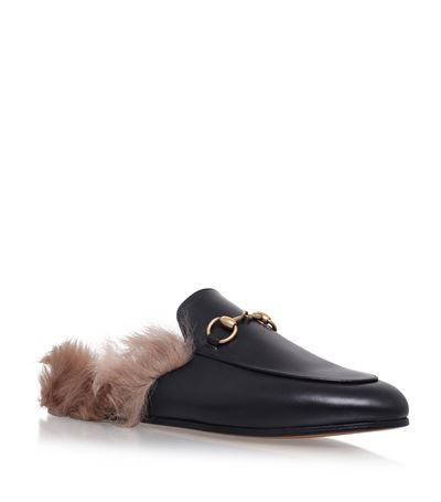 Gucci Princetown Leather Slippers available to buy at Harrods. Shop women's designer shoes online and earn Rewards points.