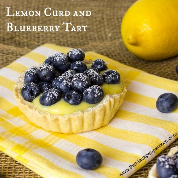 Lemon Curd and Blueberry Tart is a great lemon dessert recipe that you'll love to share with family and friends. Sweet lemons and blueberries make this a wonderful summer dessert.