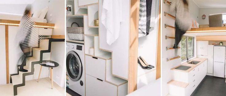 astuces de rangement pour petit espace 7 id es copier sur la millennial tiny house 18h39. Black Bedroom Furniture Sets. Home Design Ideas