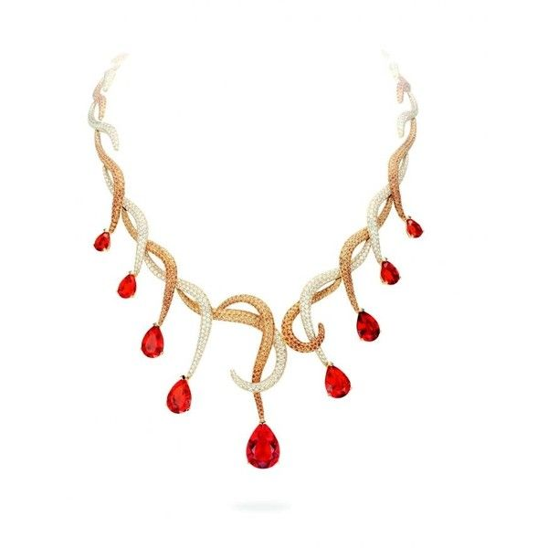 Bijuterii Leon Hatot Leon Hatot Bijoux-Colier din aur galben cu... ❤ liked on Polyvore featuring jewelry, necklaces, diamante jewelry, diamante necklace, opal necklace, opal jewelry and opal jewellery