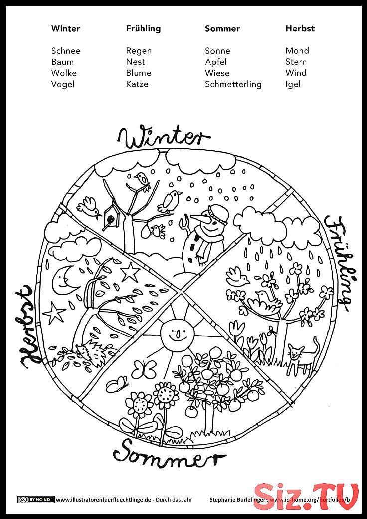 Durch Das Jahr Jahrezeiten Mandala Burlefinger Burlefinger Das Durch Jahr Jahrezei Jahreszeiten Vorschulprojekte Mandalas Kinder