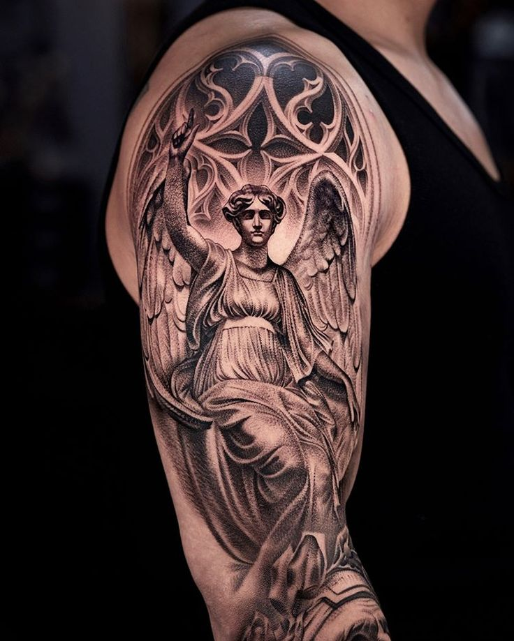 фото тату ангела хранителя на руке вера разная