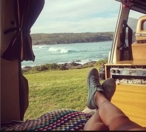 View of Killalea Beach from campervan. NSW, Australia. Photo: TheSeaWillHaveHerWay