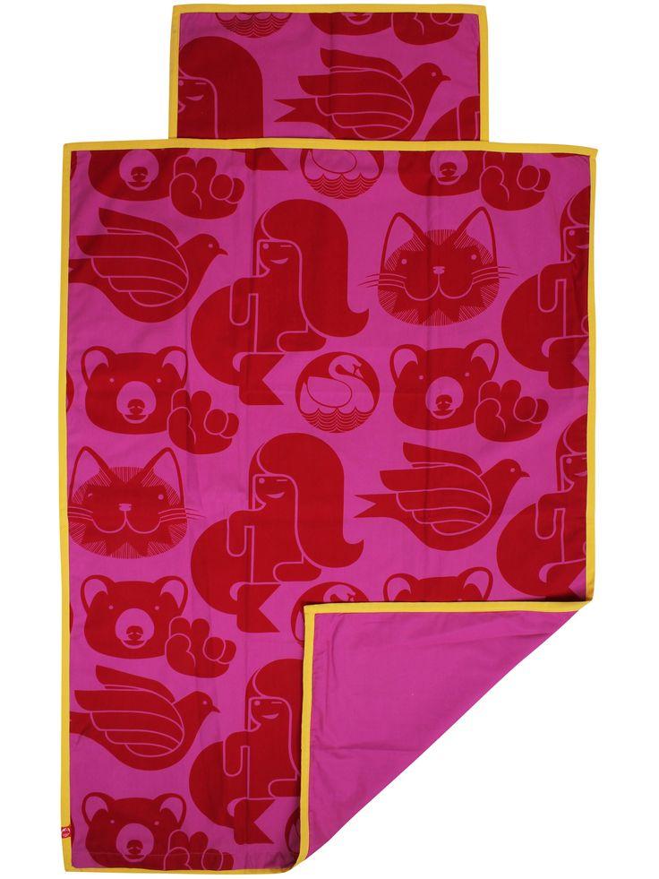 Voksensengetøj- Fuchsia/rød SWEETSTUFF fra Danefæ