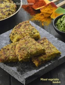 Mixed Vegetable Handvo, Non Fried Snacks