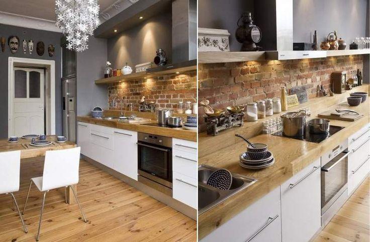 Стены серого цвета в интерьере кухни