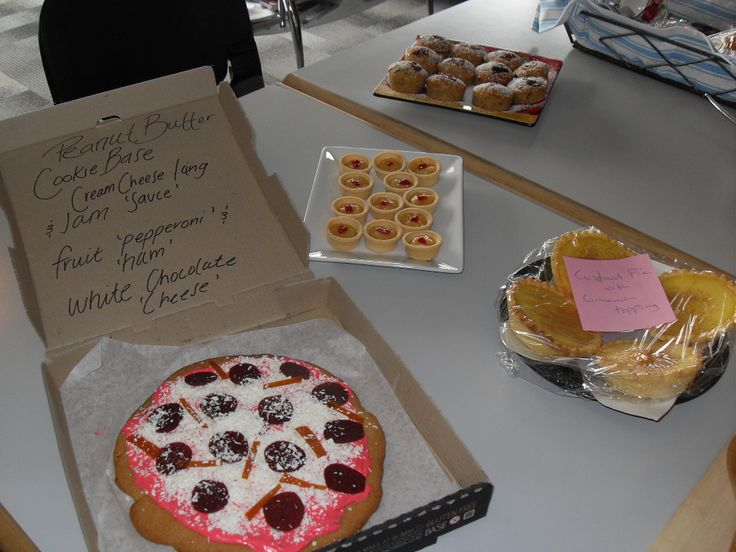 A public voting system was used for this year's Bake Off - everyone sampled the delicious treats at a shared morning tea then placed their votes.