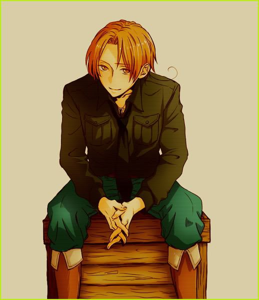 #8 Italy from the anime Hetalia  always has that urge to smile and to be happy, no matter what happens and no matter who's around. If something sad or scary happens, he'll cry. He just needs someone else to be there for a little while, and he'll be smiling again in no time. But, when he's alone, that's the time when he can let his guard down and let his smile disappear. Because, even though he hates to admit it, it's a mask. I can relate to him. I want to have relatable characters in my…