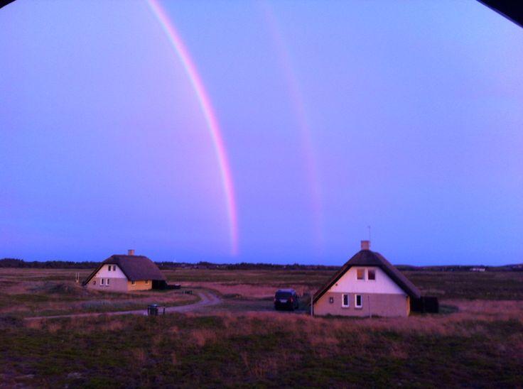 2 regnbuer på Heden Hvide Sande