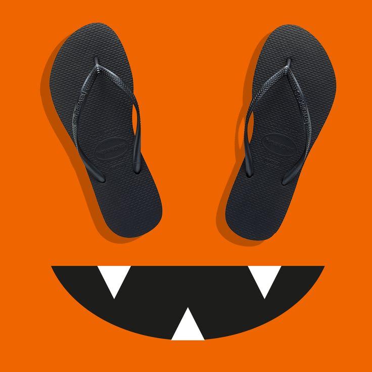 Hauntingly stylish. Happy Halloween: www.havaianas-store.com
