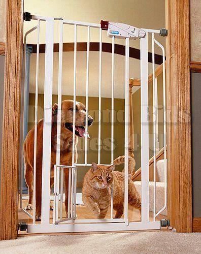 Extra Tall Pet Gate Walk Thru Door Dog Cat Baby Staircase Toddler Safe Safety #Carlson