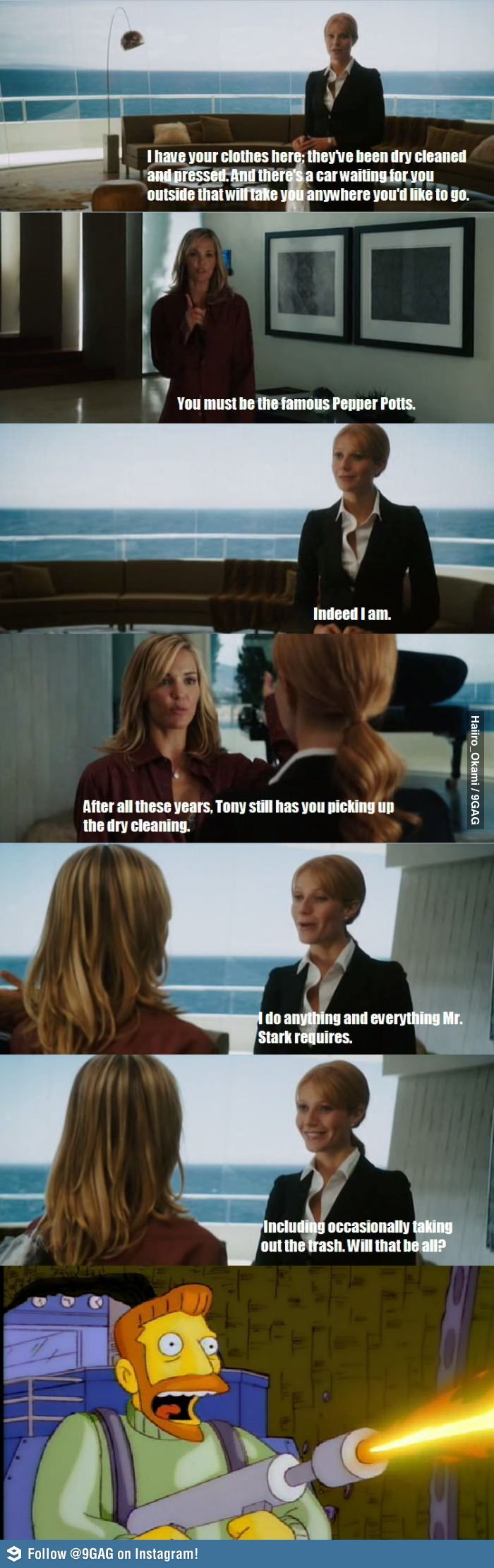 You gotta love Pepper Potts! One of my favorite scenes from her in this movie!