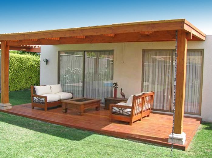 Pin de guillermo castelli en cabin pinterest terrazas for Casas de madera para terrazas