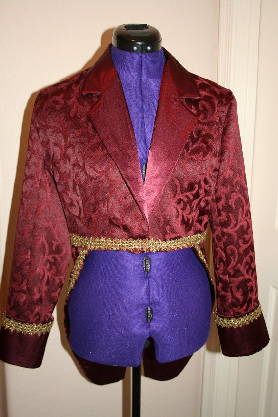 Adult Circus Ringmaster Jacket Costume  by CupcakesCottage on Etsy, $93.00