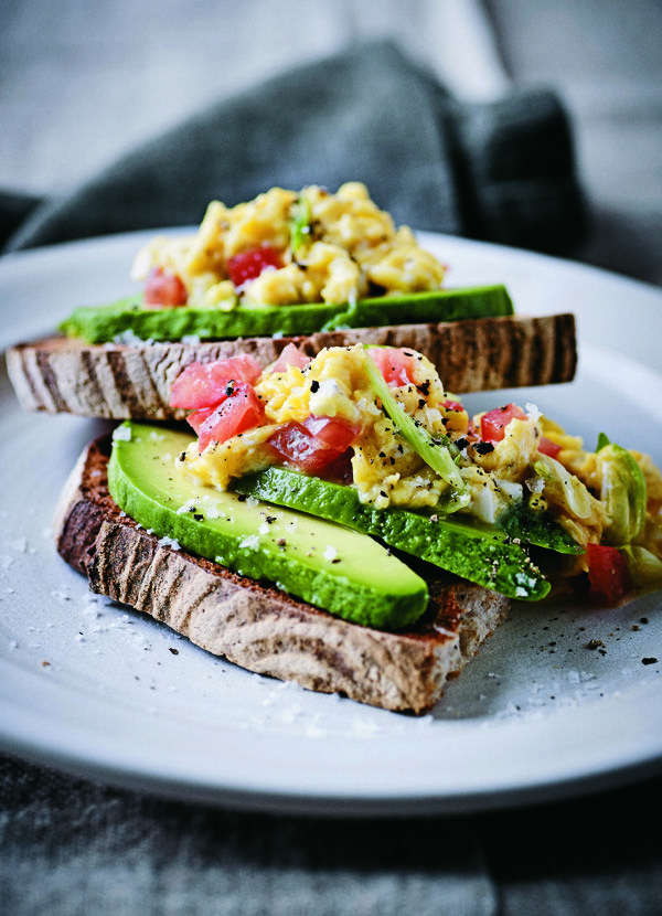 Colombian eggs: This recipe is taken from Dan Doherty's book 'Duck & Waffle; recipes and stories'. It makes for the prefect light breakfast, plus it's ready in just 15 minutes. Try pepping it up with chorizo or smoked salmon, if you like.