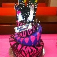 Shake It Up birthday cake for my friend's 7 year old