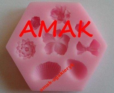 FORMA SILIKONOWA DO MASY LUKROWEJ 3D muszla kwiat